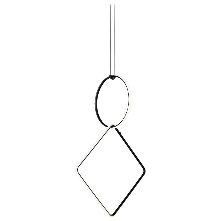 FLOS Small Circle and Large Square Arrangements Light by Michael Anastassiades For Sale