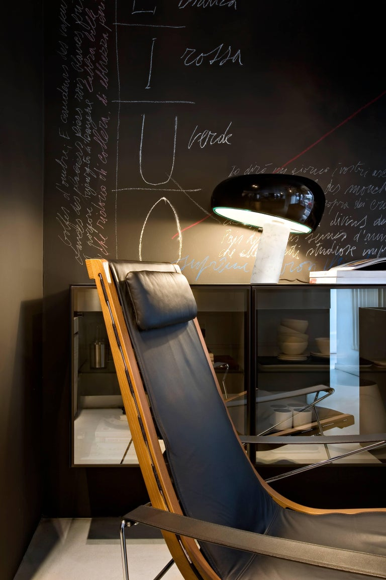 Modern FLOS Snoopy Table Lamp in Black by Achille & Pier Giacomo Castiglioni For Sale