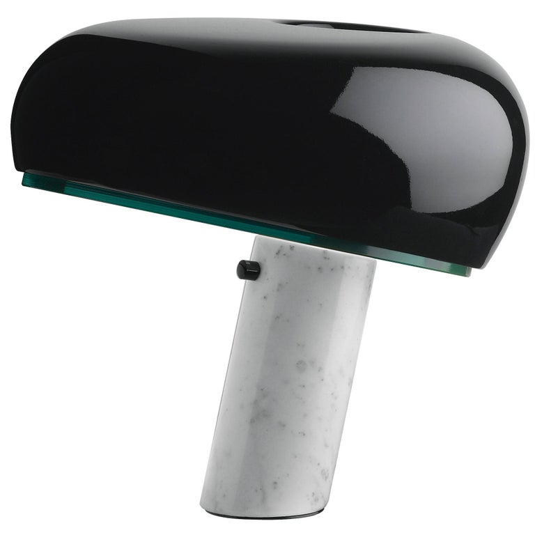 FLOS Snoopy Table Lamp in Black by Achille & Pier Giacomo Castiglioni For Sale