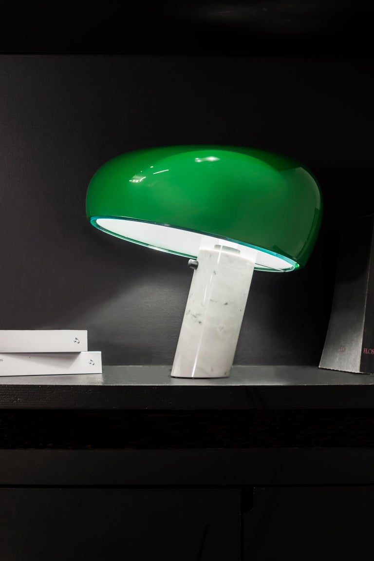 Free Gift with Purchase if you Shop this Item! www. 1stdibs .com/info/gift-with-purchase/ The masterful table lamp by Achille and Pier Giacomo Castiglioni gets a dazzling makeover.    Collectors now have a new reason to cherish the Snoopy table lamp