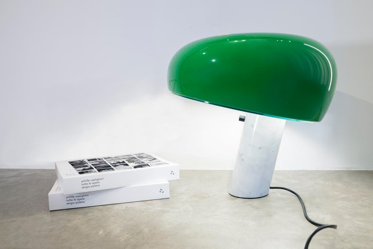 Modern FLOS Snoopy Table Lamp in Green by Achille & Pier Giacomo Castiglioni For Sale