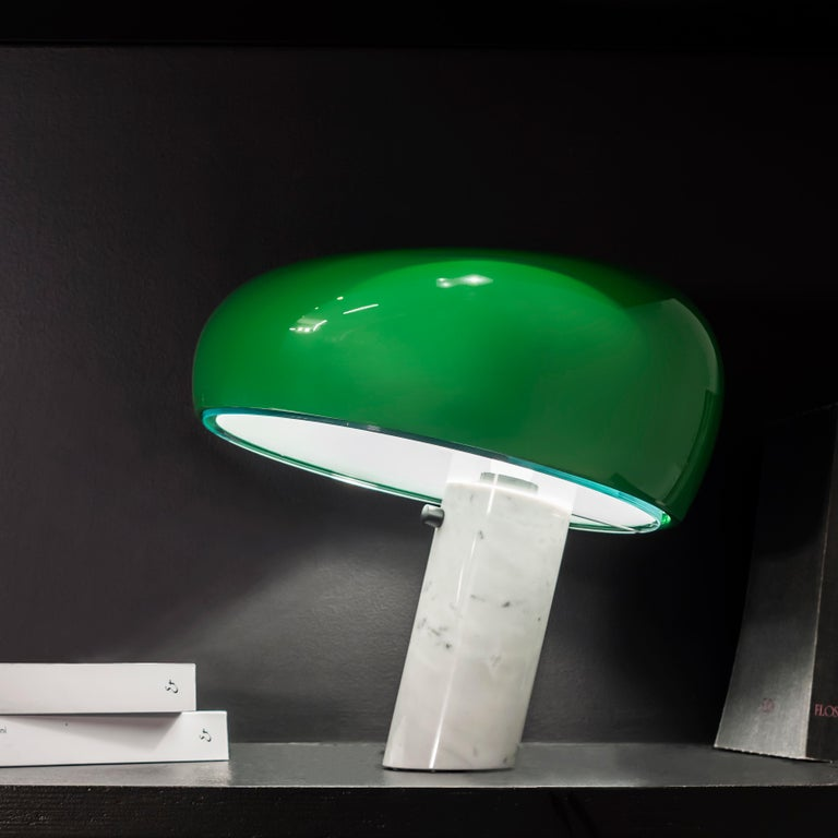FLOS Snoopy Table Lamp in Green by Achille & Pier Giacomo Castiglioni In New Condition For Sale In New York, NY