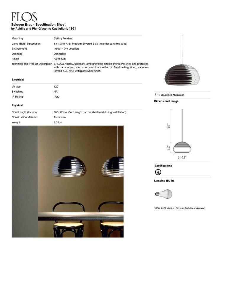 FLOS Splugen Brau Pendant Light by Achille & Pier Giacomo Castiglioni For Sale 1