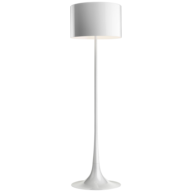 FLOS Spun Light Floor Lamp in Shiny White by Sebastian Wrong