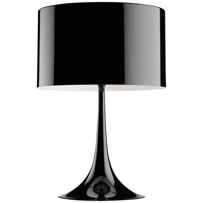 FLOS Spun T2 Halogen Table Lamp in Glossy Black by Sebastian Wrong