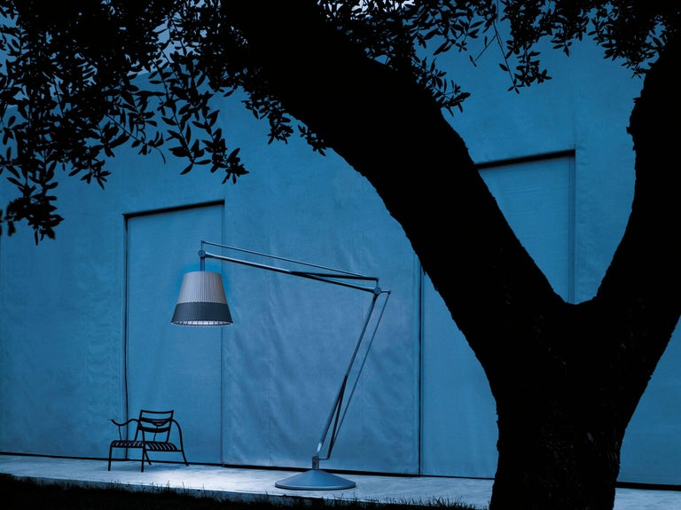 Contemporary FLOS Superarchimoon Outdoor Floor Lamp in Green Wall by Philippe Starck For Sale