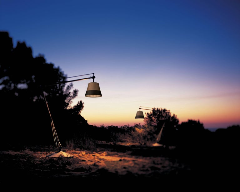 Italian FLOS Superarchimoon Outdoor Floor Lamp in Panama by Philippe Starck For Sale