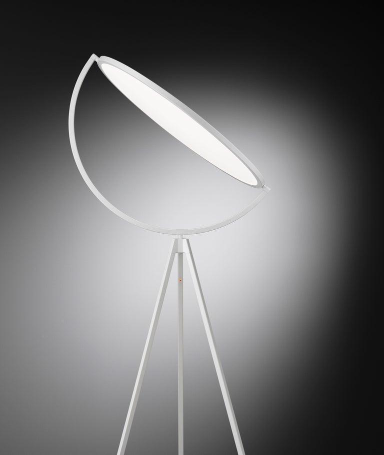 Acrylic FLOS Superloon Floor Lamp in White by Jasper Morrison For Sale
