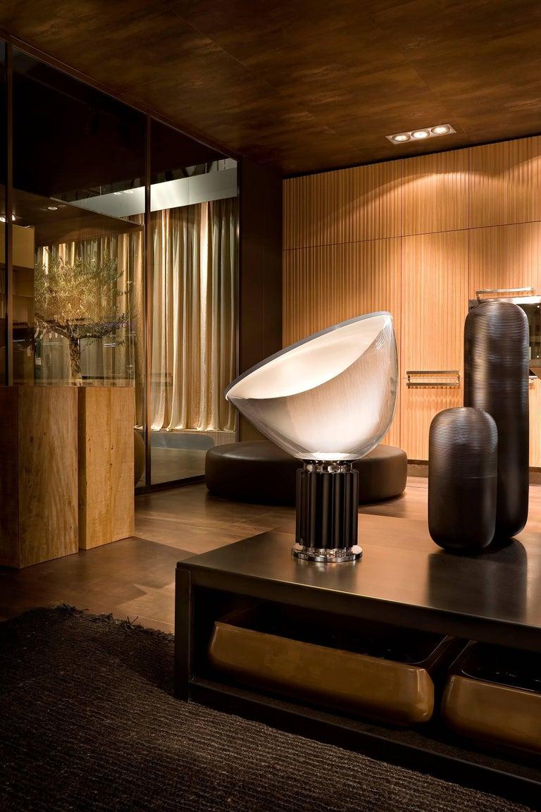 Italian FLOS Taccia Led Diffuser Lamp in Silver by Achille & Pier Giacomo Castiglioni For Sale