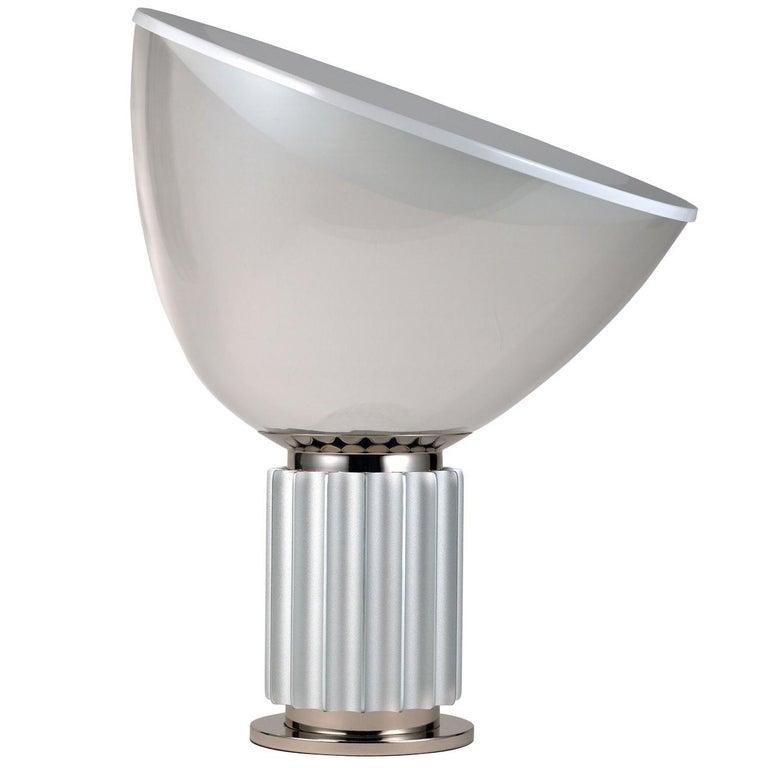 FLOS Taccia Led Diffuser Lamp in Silver by Achille & Pier Giacomo Castiglioni For Sale