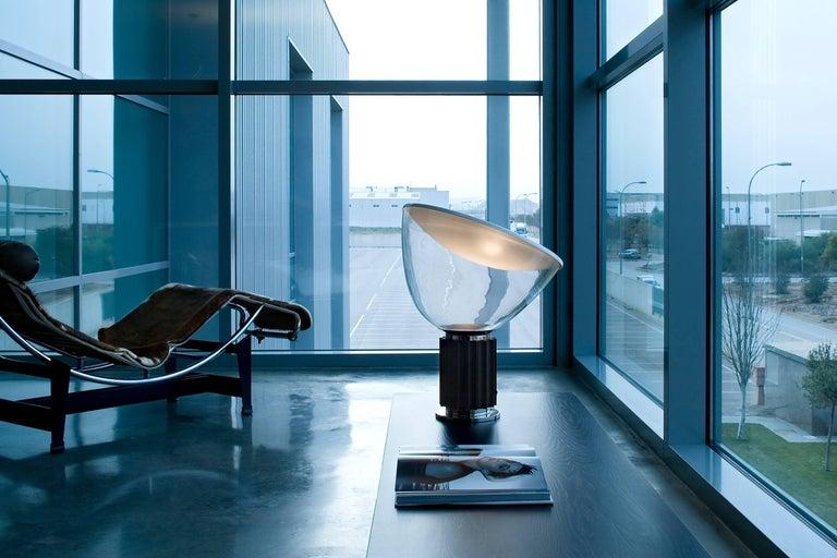 Modern FLOS Taccia Led Lamp in Bronze by Achille & Pier Giacomo Castiglioni For Sale