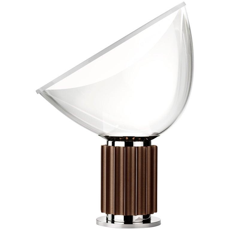 FLOS Taccia Led Lamp in Bronze by Achille & Pier Giacomo Castiglioni For Sale