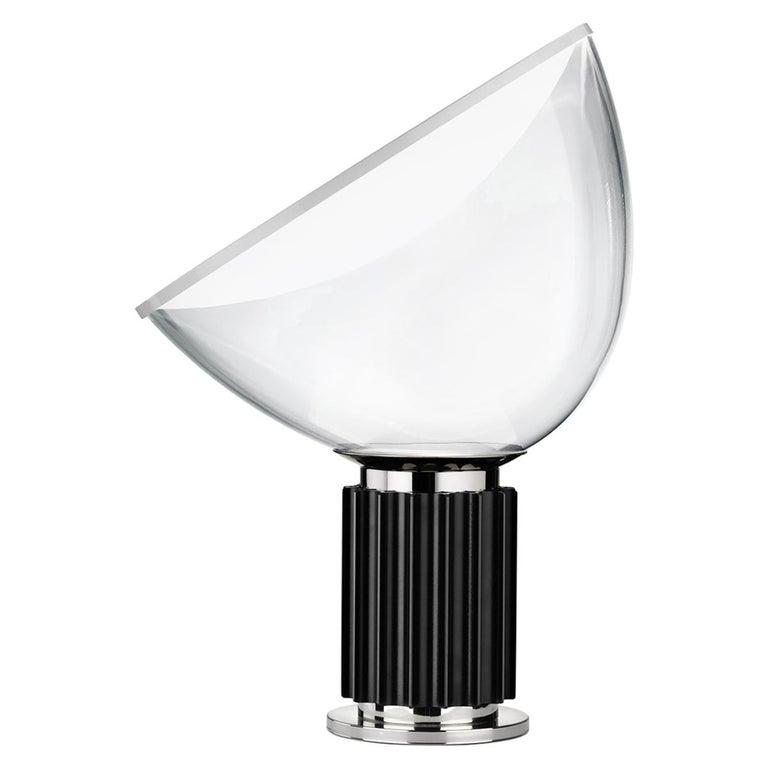 FLOS Taccia Small Table Lamp in Black by Achille & Pier Giacomo Castiglioni For Sale