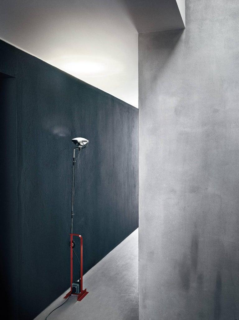Italian FLOS Toio Floor Lamp in Black by Achille & Pier Giacomo Castiglioni For Sale