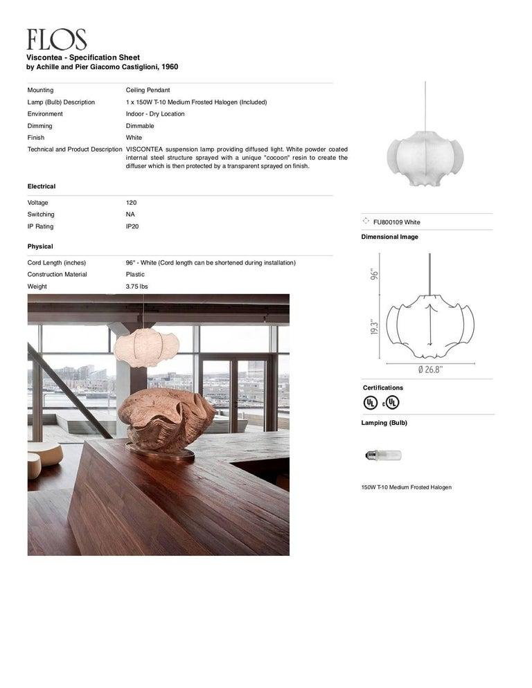 Contemporary FLOS Viscontea Pendant Light by Achille & Pier Giacomo Castiglioni For Sale