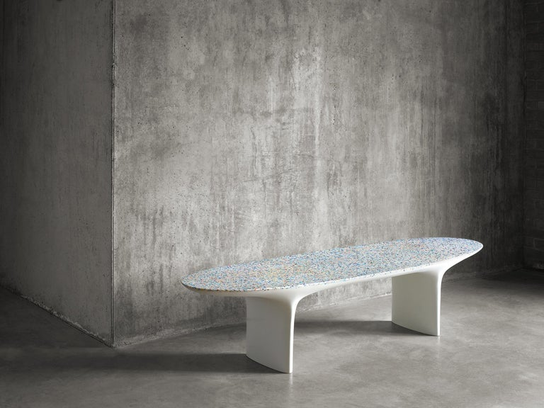 Flotsam, Cast Recycled Ocean Plastic Terrazzo Bench Seat by Brodie Neill 2