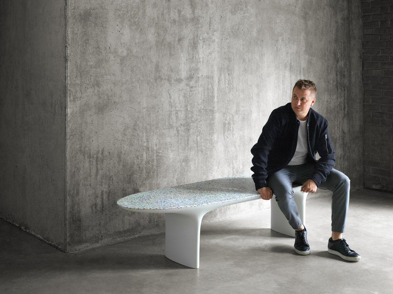 Flotsam, Cast Recycled Ocean Plastic Terrazzo Bench Seat by Brodie Neill 7