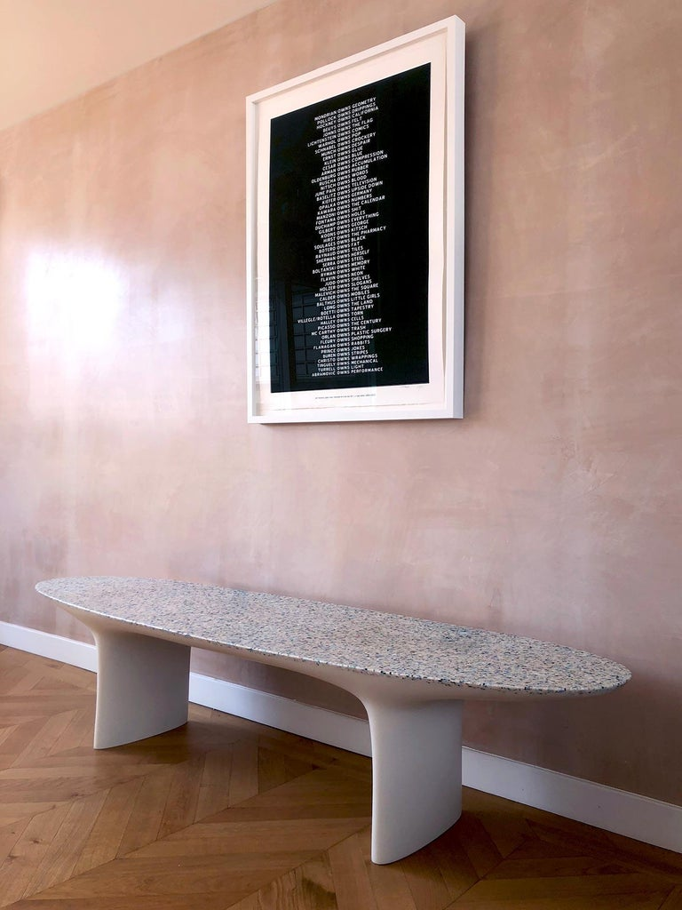 Tremendous Flotsam White Cast Recycled Ocean Plastic Terrazzo Bench Seat By Brodie Neill Unemploymentrelief Wooden Chair Designs For Living Room Unemploymentrelieforg