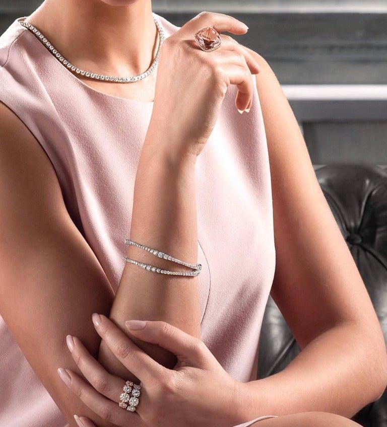 Round Cut Flow Bracelet For Sale