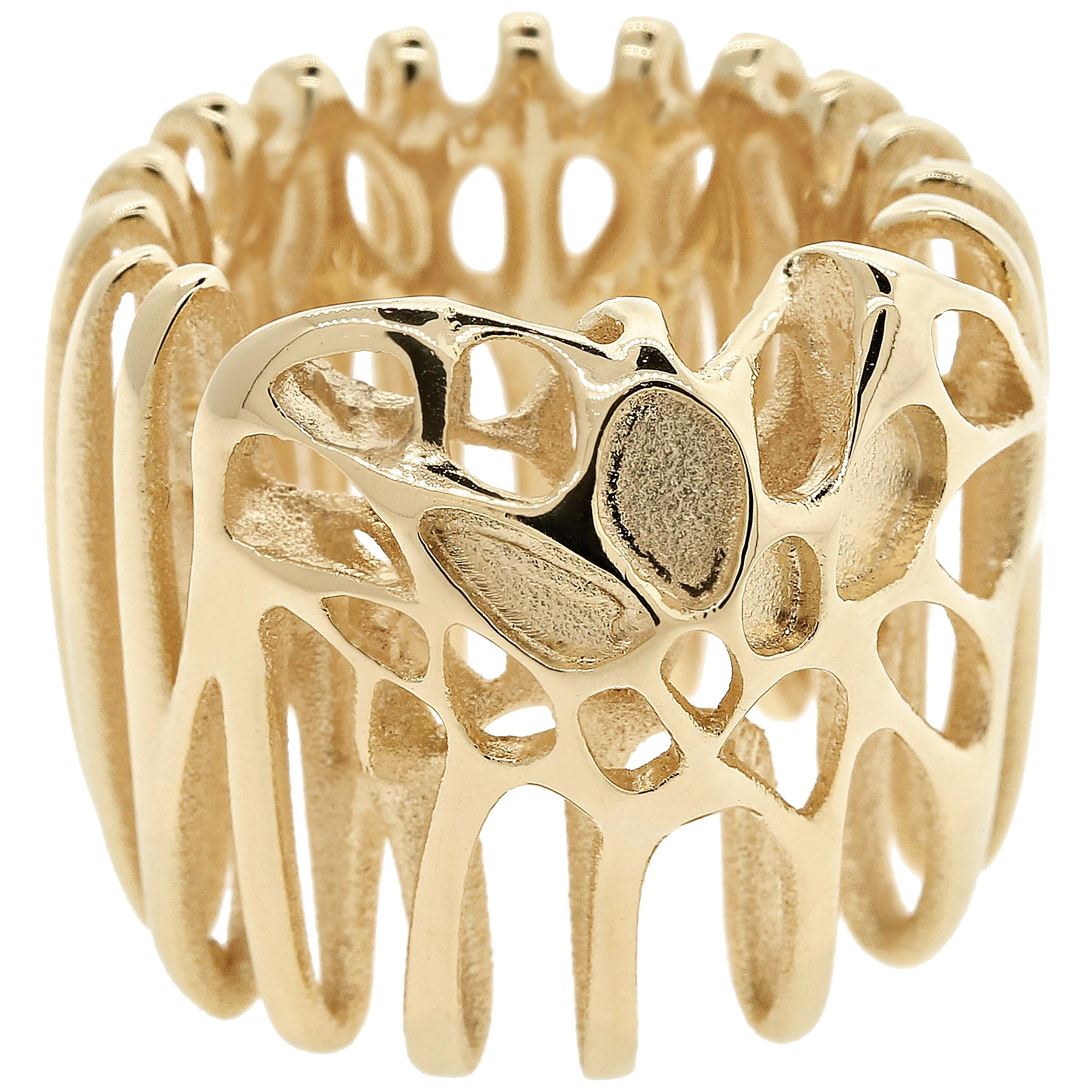 FLOWEN Sterling Silver Moxi Cocktail Ring in 18K Gold