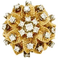 Flower 18 Karat with Diamonds Ring