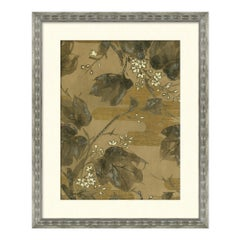 Flower and Foliage Series I Japanese Print in Neutral by CuratedKravet