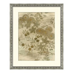 Flower and Foliage Series II Japanese Print in Neutral by CuratedKravet