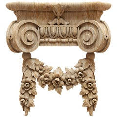 Flower Decorative Column Capital for Walls, Doors, Furniture, Interior