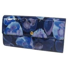 Flower ikat  Verni  portofeuilles Sarah  Womens  long wallet M90021  grandbleu L