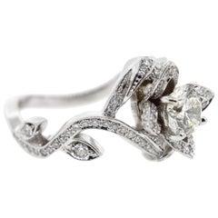 Flower Inspired Diamond Engagement Ring (Certified)