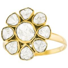 Flower Power Diamond Set Gold Ring