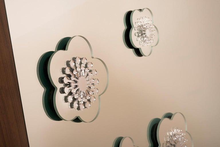 Modern Flower Power Floor Mirror For Sale