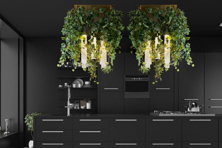 Modern Flower Power Ivy Chandelier, Italy For Sale