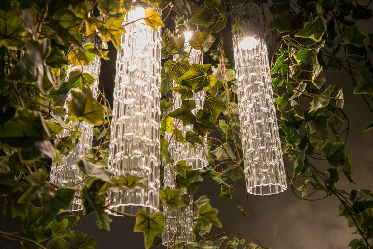 Hand-Crafted Flower Power Ivy Chandelier, Italy For Sale