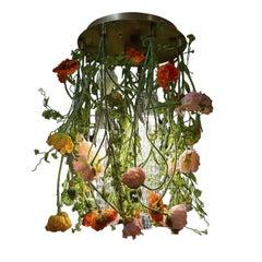 Flower Power Poppy Round Chandelier