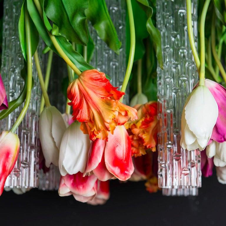 Italian Flower Power Tulip Chandelier For Sale