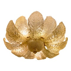 Flower Shaped Gold Murano Glass Fixture