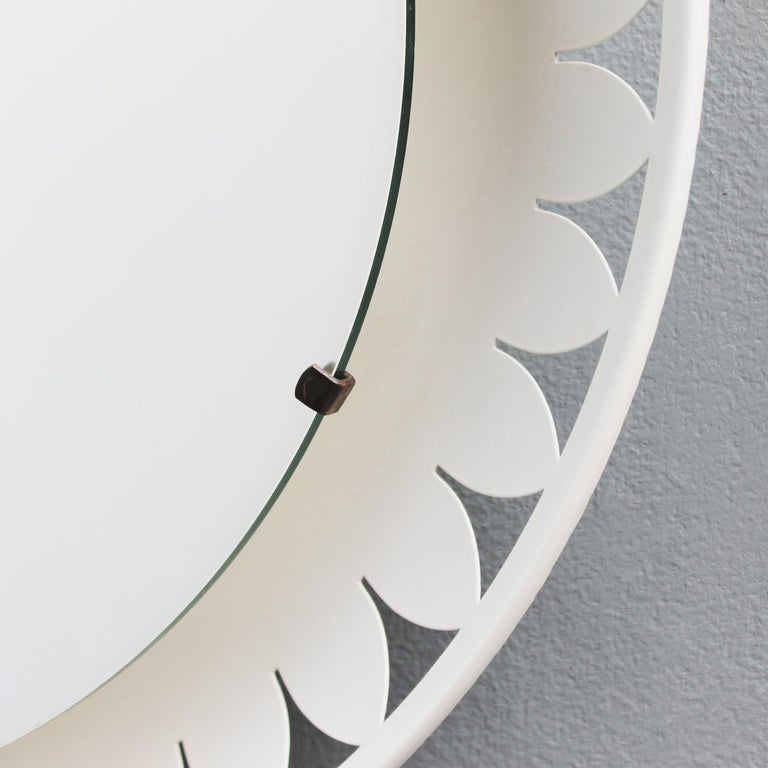 Flower-Shaped Illuminated Mirror by Ernest Igl for Hillebrand For Sale 3
