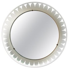 Flower-Shaped Illuminated Mirror by Ernest Igl for Hillebrand
