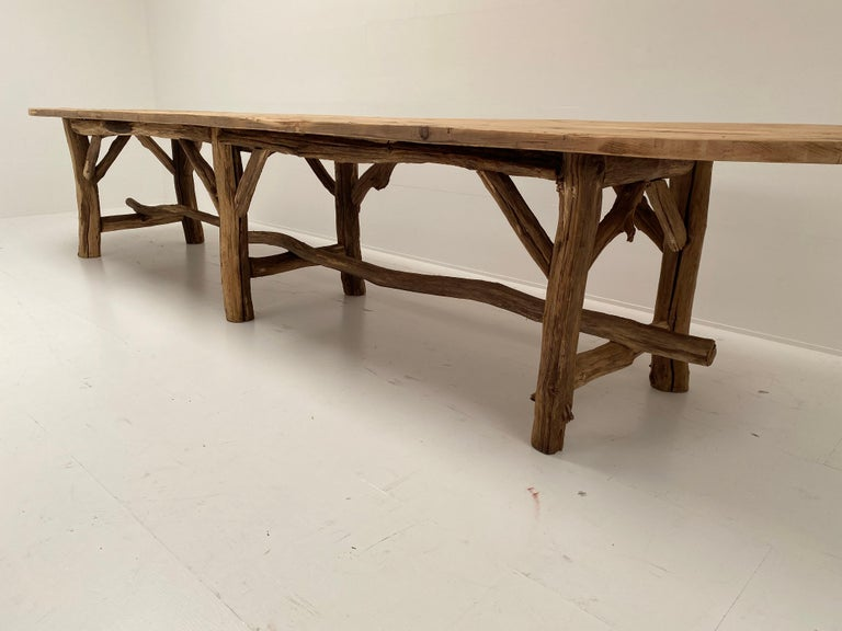 Late 20th Century Flower Shop Table from South of France For Sale