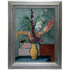 Flower Still Life Oil Painting by the Hungarian Gera Gyula