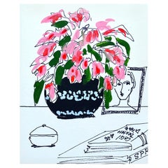 Flower Vase with Portrait, Pink