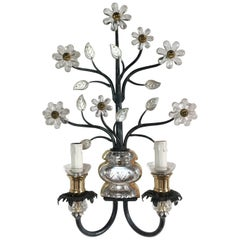Flower Wall Sconce in the Style of Maison Baguès