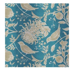Flowers and Birds Gold Panel