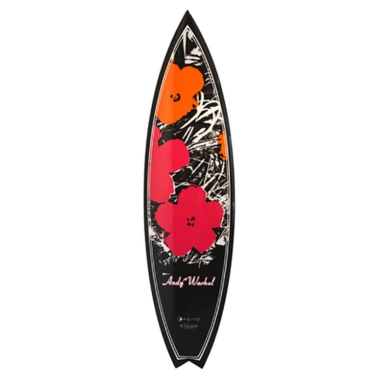 Flowers (carbon) Surfboard after Andy Warhol