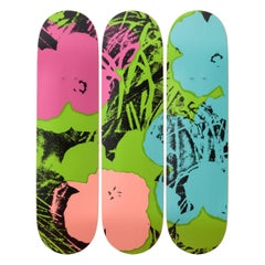 Flowers 'Green/Pink' Skateboard Decks after Andy Warhol