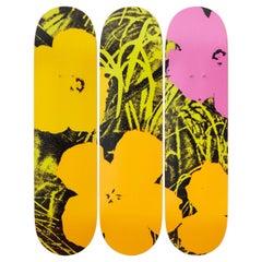 Flowers (Lime/Orange) Skateboard Decks After Andy Warhol