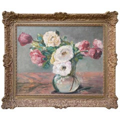 Flowers Oil Painting, Peonies by Richard Falkenberg, 1920