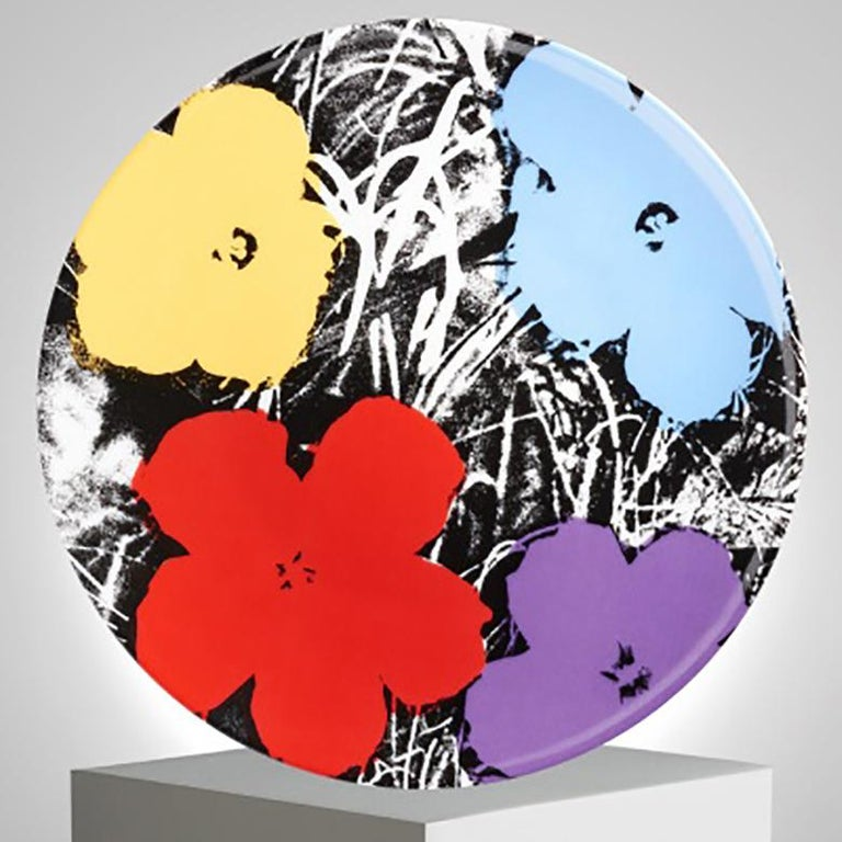 French Flowers Plate Set after Andy Warhol For Sale