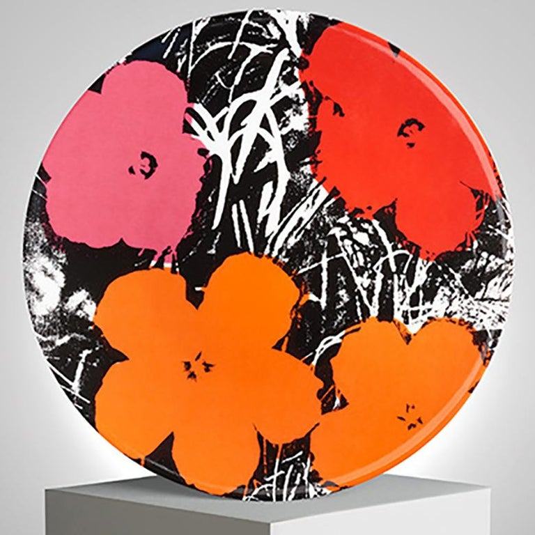 Flowers Plate Set after Andy Warhol In New Condition For Sale In Jersey City, NJ